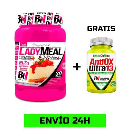 Lady Meal Replacement Fórmula 1kg + Antiox Utra 60 cápsulas